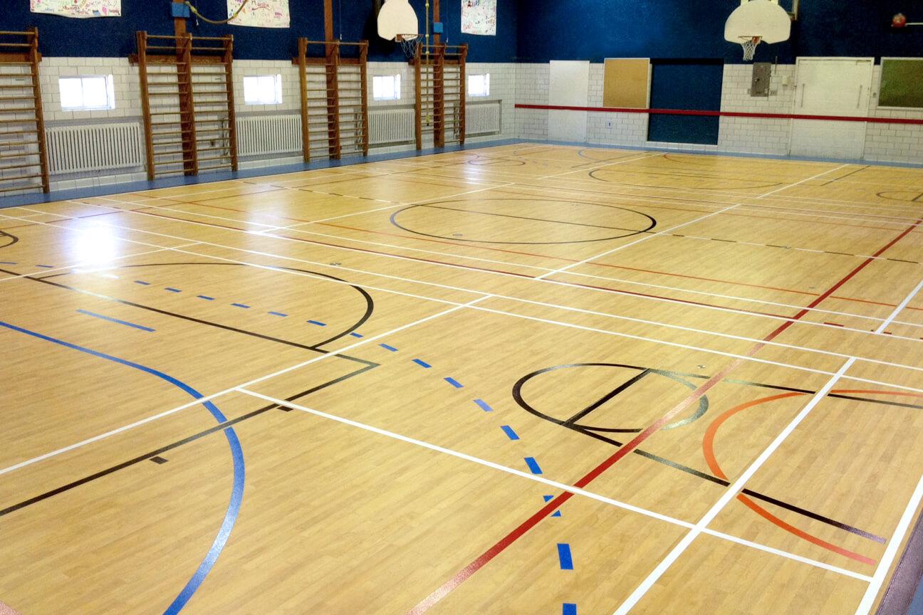 Plancher de gymnase Omnisports 6.5 à l'école de la Rive (Lavaltrie, Québec)