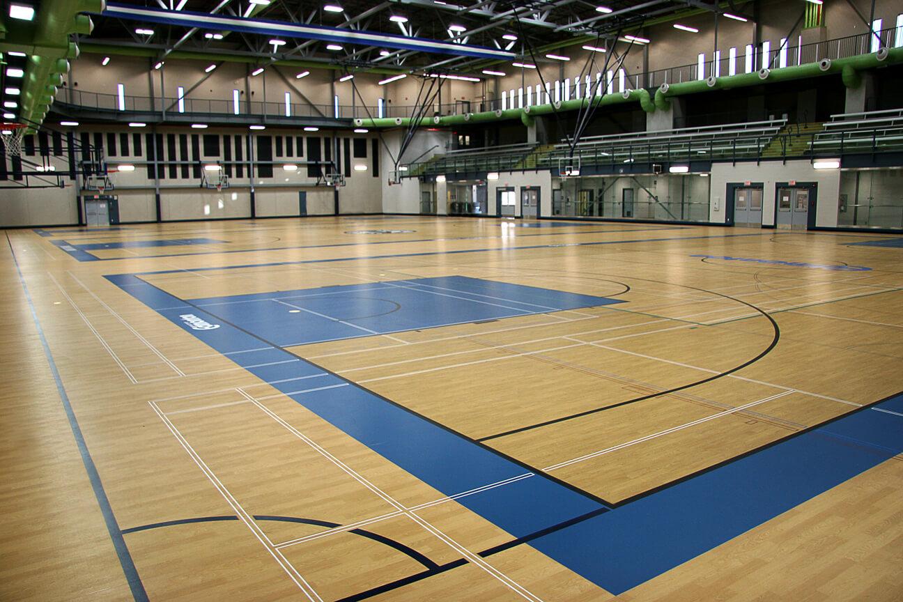 Gymnasium flooring Kinesport at St. Francis Xavier University
