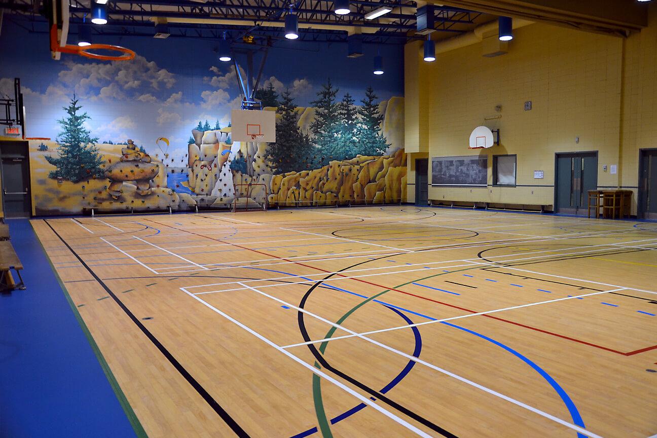 Gymnasium flooring Omnisports 6.5 at Piché-Dufrost School