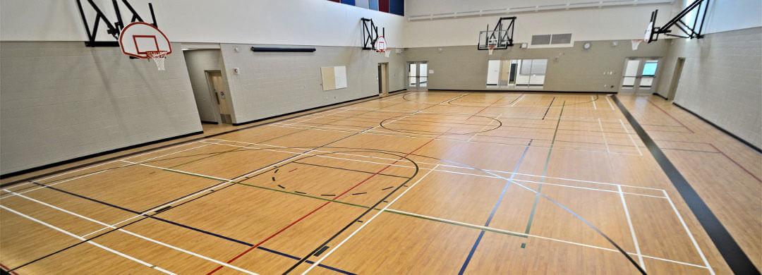 Gymnasium flooring in Saskatchewan