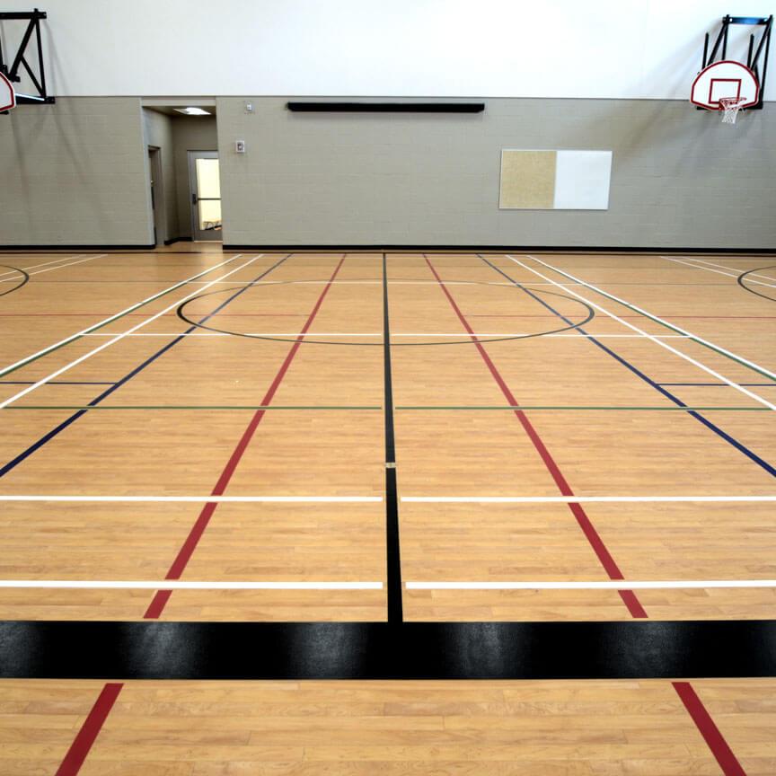 Sports floor game lines
