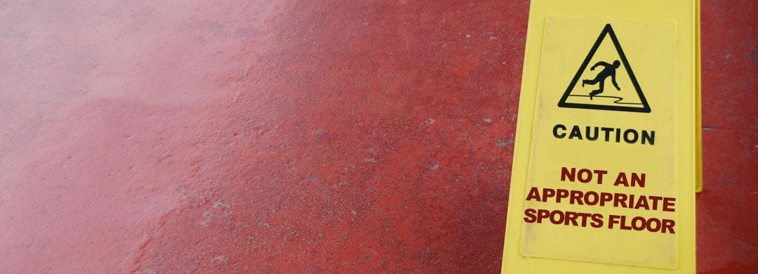 Not an appropriate sports flooring