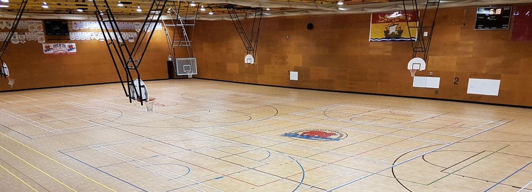 Omnisports synthetic gymnasium sports floor